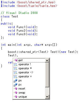 boost::shared_ptrその2